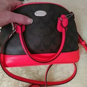Coach Bags - Minni Cora Hot Pink dome purse w/ matching wallet